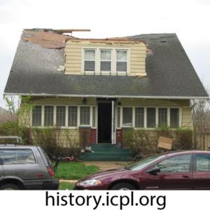 Tornado damage to Rochester Avenue house