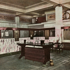 Banking Room, First National Bank and Farmers Loan & Trust Co., Iowa City, Iowa