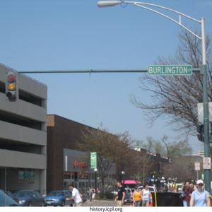Burlington Street Looking North onto Clinton Street