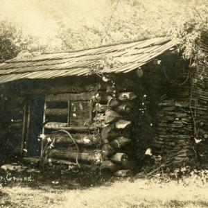 Cabin at Fair Ground, Iowa City, date unknown