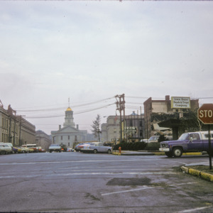 View of the Old Capitol from Capitol and College Streets, 1970-1976