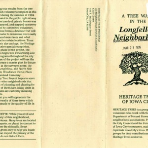 A Tree Walk in the Longfellow Neighborhood