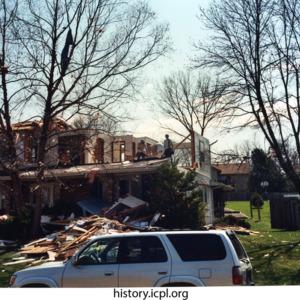 Second floor destroyed
