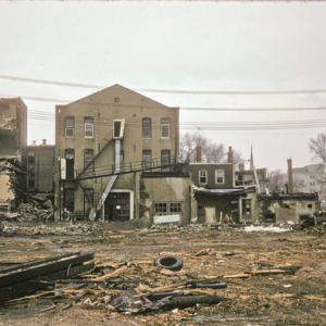 Behind View of Building Debris, 000-Block East Washington Street, 1970-1976