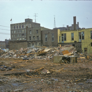 100-Block South Clinton Street, Building Debris, 1970-1976