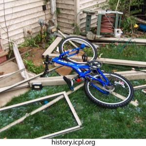Tornado-tossed items