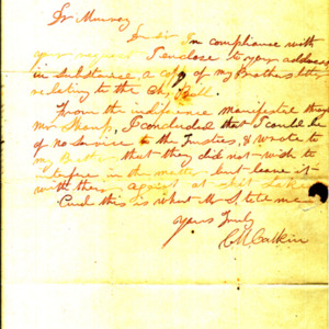 [1800s]  Letter from CM Galkin to Murray re: Bell