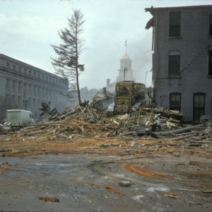 Behind View of Building Demolition, 000-Block East Washington Street, 1975