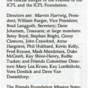 1993 Friends Foundation Board Organizes