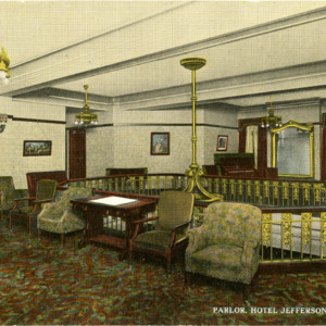 Parlor, Hotel Jefferson, Iowa City, Iowa