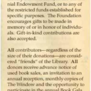 1995 Friends Foundation Seeks Contributions