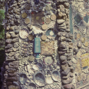 Detail of a grotto at 500 East Governor Street, 1970-1976