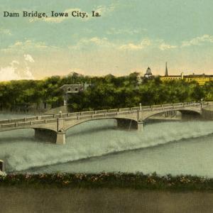 University Dam Bridge, Iowa City, undated