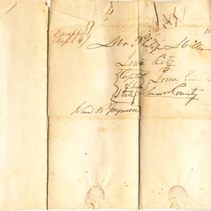 Letter addressed to Philip Miller