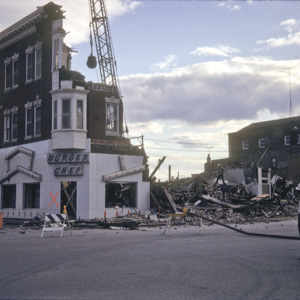 Burger Chef Demolition, 101 S Clinton St, 1974