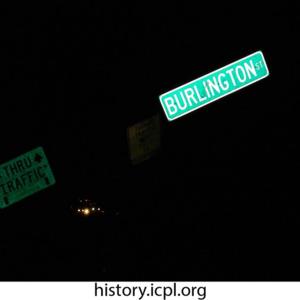 Burlington Street Sign