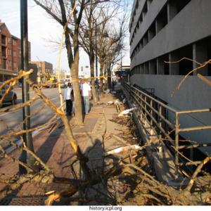 Sidewalk on Burlington Street