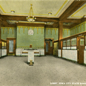 Lobby, Iowa City State Bank, Iowa City, Iowa