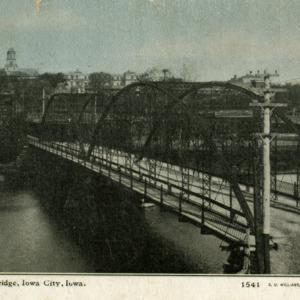 Iowa Avenue Bridge, Iowa City, Iowa, undated