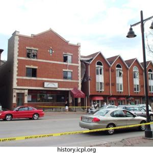 Businesses along the 300 Block of Burlington St.