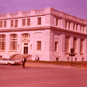 Old Post Office building, Corner of Linn and Washington Streets, 1965