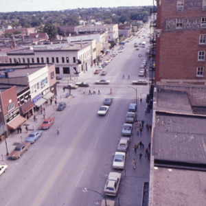Aerial View of East Washington Street, 1970s
