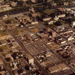 Aerial view of Iowa City, 1977
