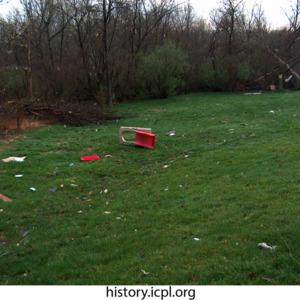 Debris near Woodridge and 7th avenues