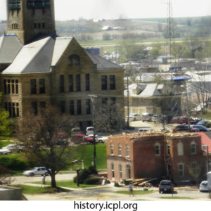 Johnson County Courthouse and other damaged building