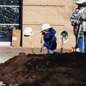 Children at ICPL Groundbreaking, 2002