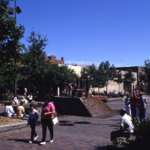 Pedestrian Mall and Plaza, Dubuque and College Streets, 1980s