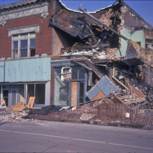 Building Demolition, 200-Block East College Street, Miller Brothers Monuments, 1975