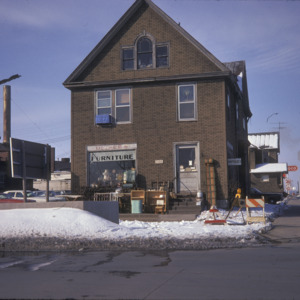 Dicker's Furniture Building, Corner of South Dubuque & East Burlington Streets, 1975